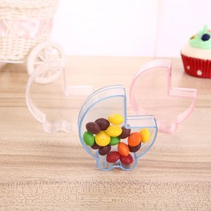 Clear Transparent Baby Carriage Shaped Candy Box Gift Box Baby Shower Birthday Party Chocolate Wrap Supplies