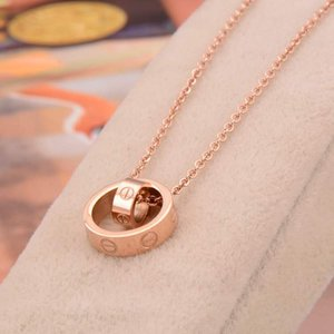 Designer Jewelry LOVE Necklace Rose Gold Screw Necklace Titanium Steel with Rose Gold Platinum Luxury Woman love gift Free shipping