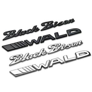 Aplicable a las pegatinas de coches BMW Mercedes wald negro de cola del coche bisontes marca de límite de palabras Modificado insignia del coche bisonte