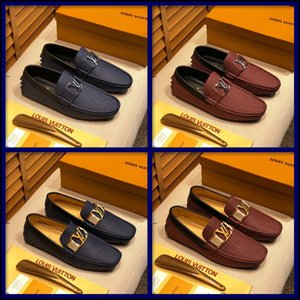 20MC Мужчины Мокасины кожа итальянский большого размера Обувь Casual Бренды Скольжение на Luxury Flats Mens Loafer Человек Мокасины вождения автомобиля обувь черный