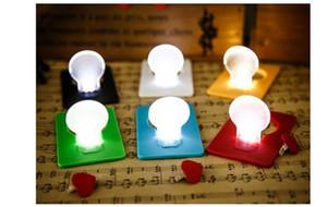 Decorazioni natalizie Elementi novità Emergency ABS Small THIN LED Portable Card Light Bulb Lamp Pocket Wallet Size