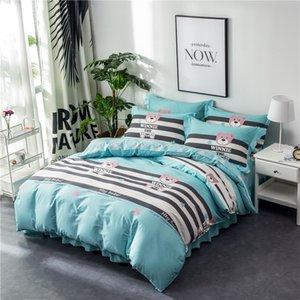Cotton Denim Cotton Bed Rock Prinzessin Lace Abdeckung Bettbezug Bedding