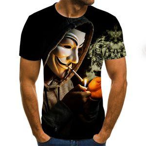 chaud vente Clown 3D 2020 T-shirt imprimé Hommes Joker visage Homme T-shirt 3d Clown drôle à manches courtes T-shirts T-shirts Tops XXS-6XL