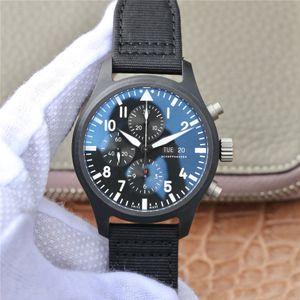 ZF Montre de Luxe 41mmx15.3mm Data, exibição da semana e função de cronógrafo 7750 Movimento mecânico Relógios de desenhista