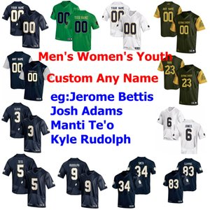 NCAA 6 Tony Jones Jr. Jersey 9 Kyle Rudolph 3 Joe Montana 83 perseguição Claypool 12 Ian Livro College Football camisas personalizadas costurado