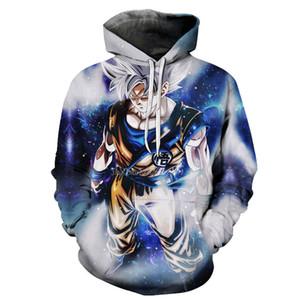 6XL Anime Hoodies Hommes À Capuche 3D Dragon Ball Héros Vegeto Goku Bulma Buu Cell Jiren Demoniacal Sweatshirts Hommes Hoddies Personnalisé