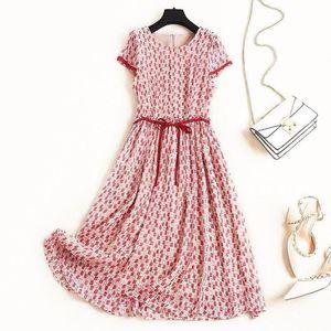TiLeewon Fashion European Style Office Lady Dress Chiffon Goddness A-Line Style Summer Dress Slim Long