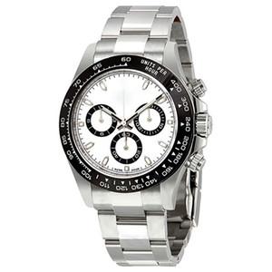 17 Farben-automatische fegt Silber Fall weißes Zifferblatt Uhr-Saphir-Glas-Serie M116519 Edelstahl Massiv Haken Männer Uhren