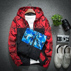 Fashion Men's Hooded Jacket Spring and Autumn Thin Men's Lovers Outdoor New Camouflage Jacket size M-5XL