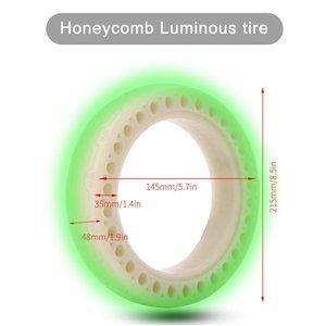 8.5 polegadas fluorescente Honeycomb borracha contínua pneu sem câmara 1 Parte 8 1/2 Para Millet M365 Scooter elétrico Tire Sólidos