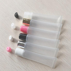 10ml 15ml 20ml Empty Lipstick Tube,Lip Balm Soft Hose,Makeup Squeeze Sub-bottling,Clear Plastic Lip Gloss Container