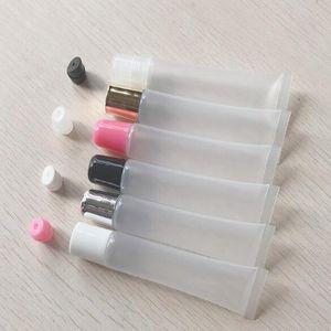 10ml 15ml 20ml Vuoto Lipstick Tube, Balsamo per le labbra morbida Tubo, trucco squeeze sub-imbottigliamento, in plastica trasparente Lip Gloss Container