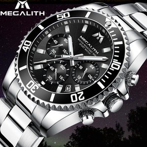 MEGALITH Reloj Hombre Fashion Casual Watch Men Waterproof Analog 24 Hour Date Quartz Watches Sports Chronograph Male Clock
