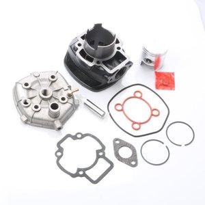 70cc Big Bore Zylindersatz Piston Kit Zylinderkopfdichtung für Piaggio NRG Mc3 Strom Purejet 50 Zip Sp Eu2 50cc 100.080.570 47mm