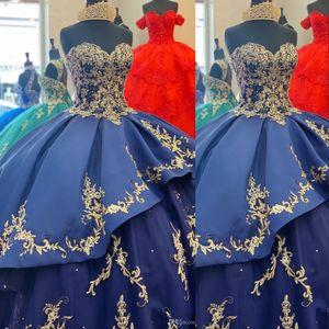 2020 로얄 블루 볼 가운 성인식 드레스 연인 레이스 아플리케 구슬 새틴 계층 달콤한 (16) 사용자 정의 파티 드레스 정장 이브닝 가운