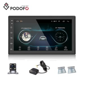 "Podofo Android 8.1 Car DVD Player 2 Din 2.5D vidro 7"" Camera Radio Touch Screen Car Autoradio GPS Navigation Wifi Espelho Link Bluetooth Rear"