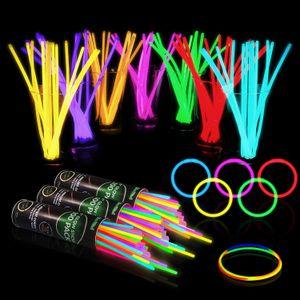 Multi Color Hot Glow Stick Bracelet Necklaces Neon Party LED Flashing Light Stick Wand Novelty Toy LED Vocal Concert LED Flash Sticks 300pcs