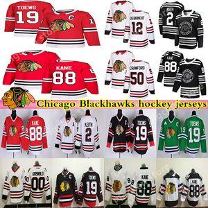 Chicago Blackhawks de hockey masculin 88 Patrick Kane 19 Jonathan Toews 2 Duncan Keith Clark Griswold Brandon Saad Crawford Hockey Maillots