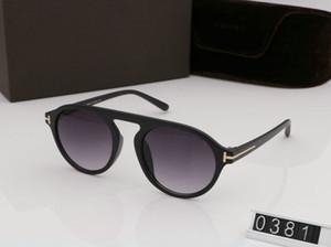 2019 nueva moda gafas de sol redondas para hombre mujer gafas tom diseñador gafas de sol cuadradas UV400 Ford lentes tendencia con caja gafas de sol TF0381