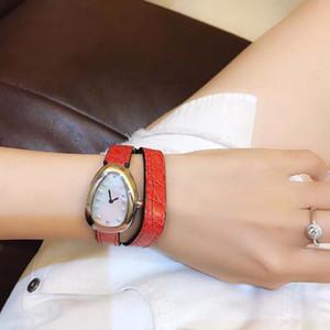 Envío gratis Serpenti 28mm reloj de pulsera para mujer doble espiral verde correa de cuero relojes de cuarzo para mujer reloj de mujer madreperla q011