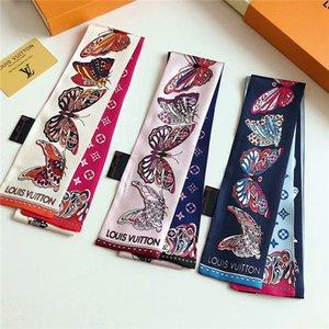 Marca de moda impressa lenço de seda multi-funcional fita homens e mulheres com moda bolsas de fita lenço de sedaA moda cachecol de seda feminina