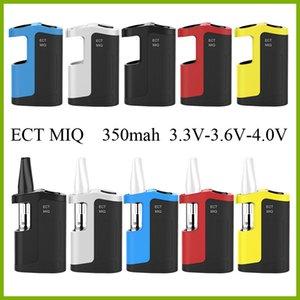Cheapest thick oil vape pen Kit ECT MIQ 350mah variable voltage vape battery 3.3V-3.6V-4.0V with 0.5ml ceramic vape cartridges DHL free