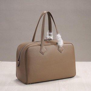 Capa Luxurious2019 zurriago principal de la plaza largas del cuero genuino Fondo Ambiente mujer del paquete del bolso de mano Concisa