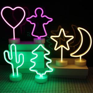 ins Gökkuşağı Led Neon Işık Tatil Noel Parti Düğün Süsleme Çocuk Odası Ev Dekorasyonu Flamingo Ay Unicorn Neon Lambası Sign