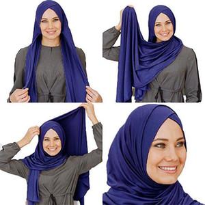2019 Jersey instantánea hijab listo para usar Hijabs musulmán para las mujeres casquillo interior islámica bajo pañuelo en la cabeza de la bufanda árabe Headwear