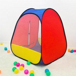 Çocuklar Renkli Çadır Taşınabilir Çocuklar Oyun Evi Kapalı Kale Katlanabilir Çadır Okyanus Ball Pool