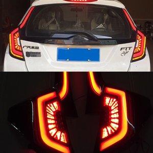 Luz da cauda 2PCS Car Taillight LED com DRL + reverso + freio traseiro para Honda JAZZ Fit 2014 2015 2016 2017 2018