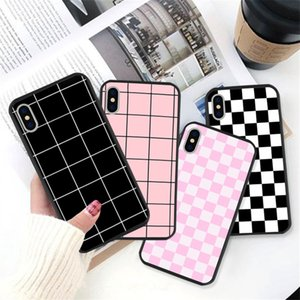Checkerboard Plaid Checked Checkered designer phone case For iphone 11 pro max case iphone 11 case Grid Hard Back Cover coque iphone 11