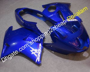 카우보이 부품 혼다 블랙 버드 CBR1100XX CBR1100 CBR 1100 XX 1996-2007 Blue Bodywork Fairing Motorcycle Kit (사출 성형)