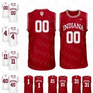 Personalizado NCAA Indiana Hoosiers Juwan Morgan Devonte Green Zach McRoberts De'Ron Davis Jerome Hunter Oladipo Zeller Jerseys de baloncesto baratos