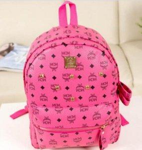 Новая мода заклепки рюкзак школьная сумка MCM нейтральный рюкзак студент дамы и мужчины travelcampus студент рюкзак