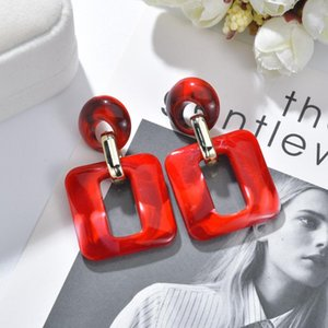 MESTILO Big Acetic Acid Drop Earrings For Women 2020 Resin Large Square Earrings Trendy Geometric Acrylic Jewelry Accessories
