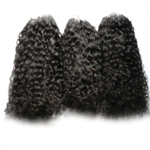Micro ring hair extensions afro kinky curly human hair bundles Micro Loop Human Hair Extensions 300s Micro Bead European 300g