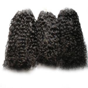 Микро кольцо наращивание волос афро кудрявый вьющиеся пучки человеческих волос микро петли наращивание волос 300s микро шарик Европейский 300 г