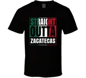 Straight Outta Zacatecas Messico Città del Messico Grunge Parodia T Shirt