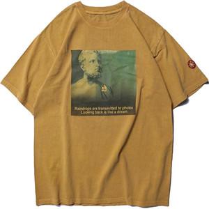 LawFoo Mens 19 nouveau printemps et en été la meilleure qualité C-WALL C.E CAV EMPT lourds T-shirt de lavage à manches courtes hommes H Hotest vendeur