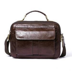 Man Briefcase 2020 Bag Men Leather Male Commute Messenger Affairs Single Shoulder Business Package Time Handbag Genuine Leisure Autdr