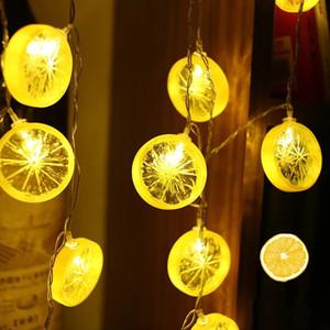 3M Limon Dilim Dekoratif Işık Dize Yıldız Net Kırmızı Işık Ins Stil Odası Dekorasyon Düğün Ev Dekorasyon LED String