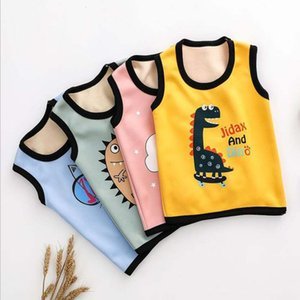 baby vest 0-11T kids plush inside suspenders tops sping sleeveless warm jacket infant clothes toddler autumn waistcoat girls boy