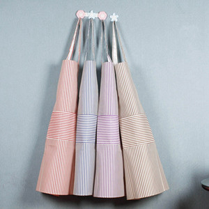 Stripe Kitchen Apron Adjustable Unisex Kitchen Cooking With Pockets Coverall Apron Cooking Craft Baking Cleaning Tool HHA907