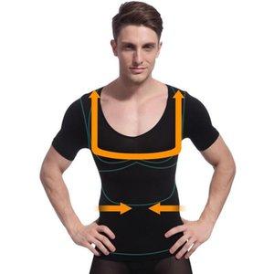 Erkekler Abzorban Giyim Body Shaper Quicky Kurutma Zayıflama Karın Göbek Kilo Verme Tankı Vücut Şekillendirici Atlet Tops Sweat