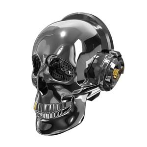 2021 Populaire New Aeroskull Crâne Head Haut-Parger Dazzle LED Fire Portable Bluetooth Basse Basse Stéréo pour Halloween Design Cadeau unique Caixa de Som