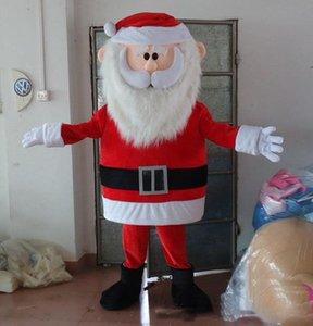 2019 Indirim fabrika satış kırmızı burunlu reinderer santa baba Noel maskot kostüm yetişkin için