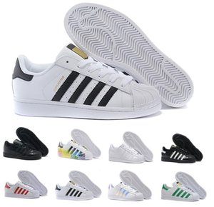 Super Star White Hologram Iridescent Junior Superstars 80s Pride Mens Casual Air Designer Womens Dress Trainers Ao Ar Livre Zapatos Shoes 36-44