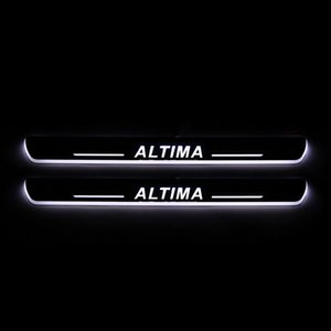 الانتقال LED ترحيب دواسة السيارة جرجر لوحة دواسة عتبة الباب المسار ضوء لنيسان ألتيما 2015 2016 2017 2018