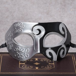 9 * 16 cm 24 Renkler Cadılar Bayramı Mardi Gras Masquerade Kutlama Maskesi cosplay Caz Prens Yarım Yüz Plastik Oyma Parti Maskesi BH0107